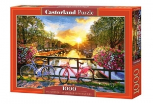 Puzzle 1000 Picturesque Amsterdam&Bicycles CASTOR