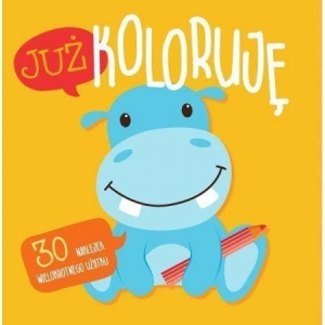 Już koloruję. Hipcio. Easy color 3