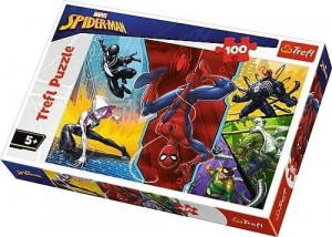 Puzzle 100 Do góry nogami Marvel Spiderman TREFL