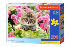 Puzzle 100 Kittens in Flower Garden CASTOR
