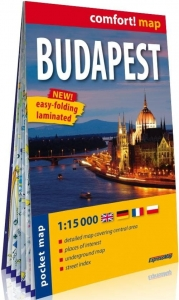 Comfort! map Budapest pocket 1:15 000 w.2020