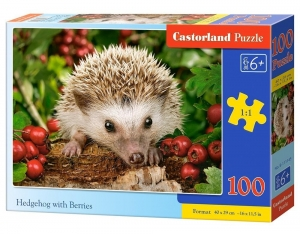 Puzzle 100 Hedgehog with Berries CASTOR