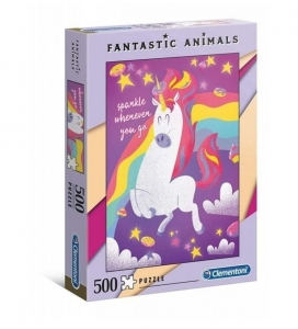 Puzzle 500 Fantastic animals Unicorn